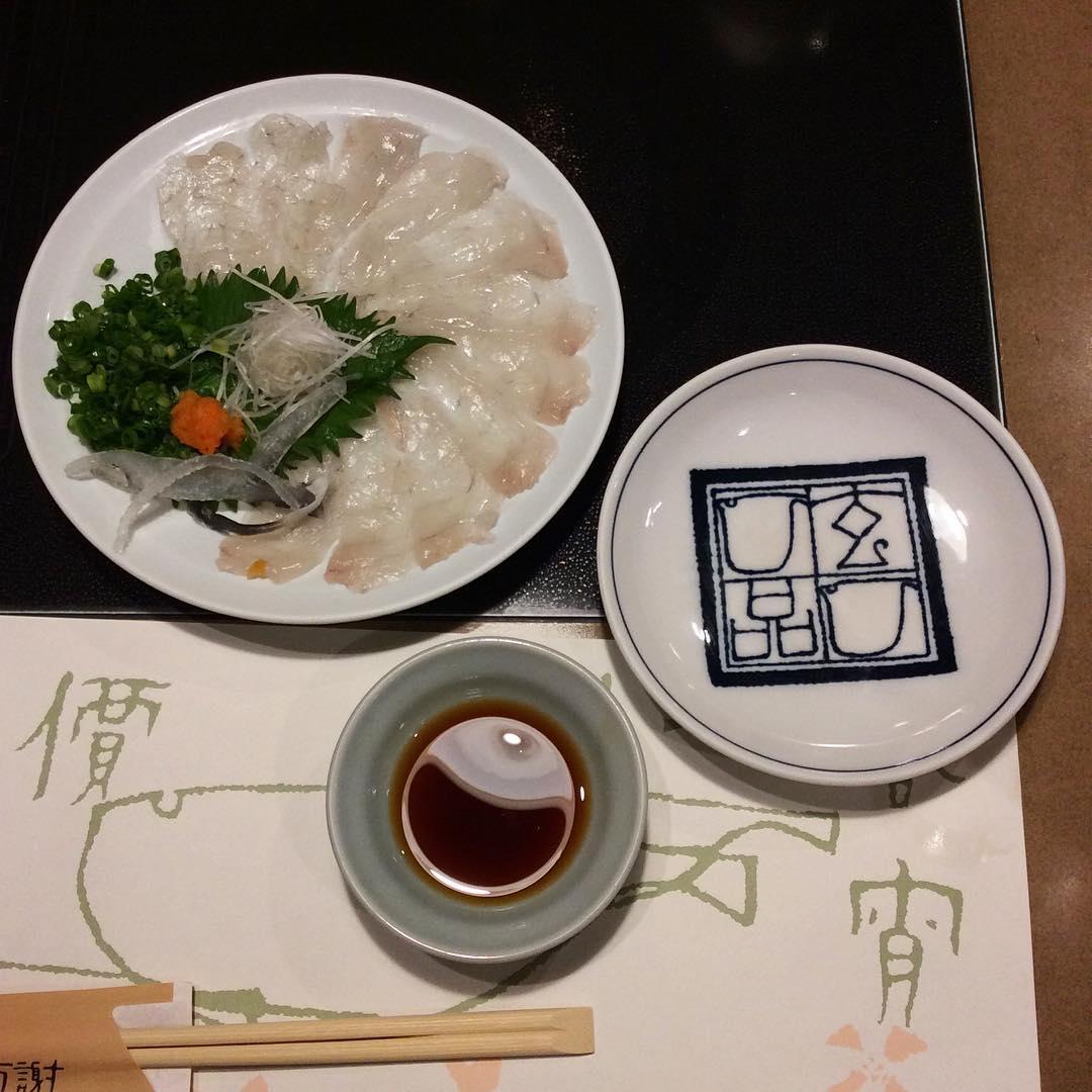 Сашими из рыбы фугу
