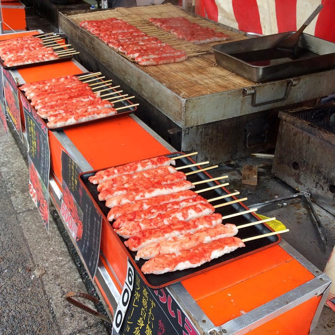Шашлычки из крабового мяса